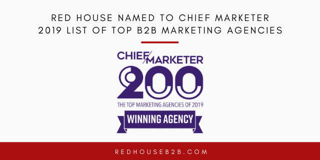 Red House Named to Chief Marketer 2019 List of Top B2B Marketing Agencies